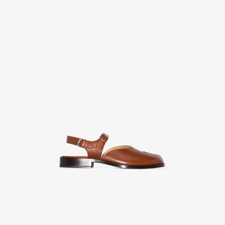 Maison Margiela brown Tabi leather sandals