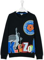 Kenzo Statue of Liberty print sweatshirt - kids - Cotton - 14 yrs