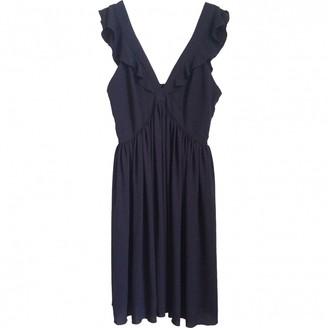 MAISON KITSUNÉ Navy Polyester Dresses