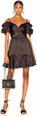Self-Portrait Self Portrait Off Shoulder Mini Dress in Black   FWRD
