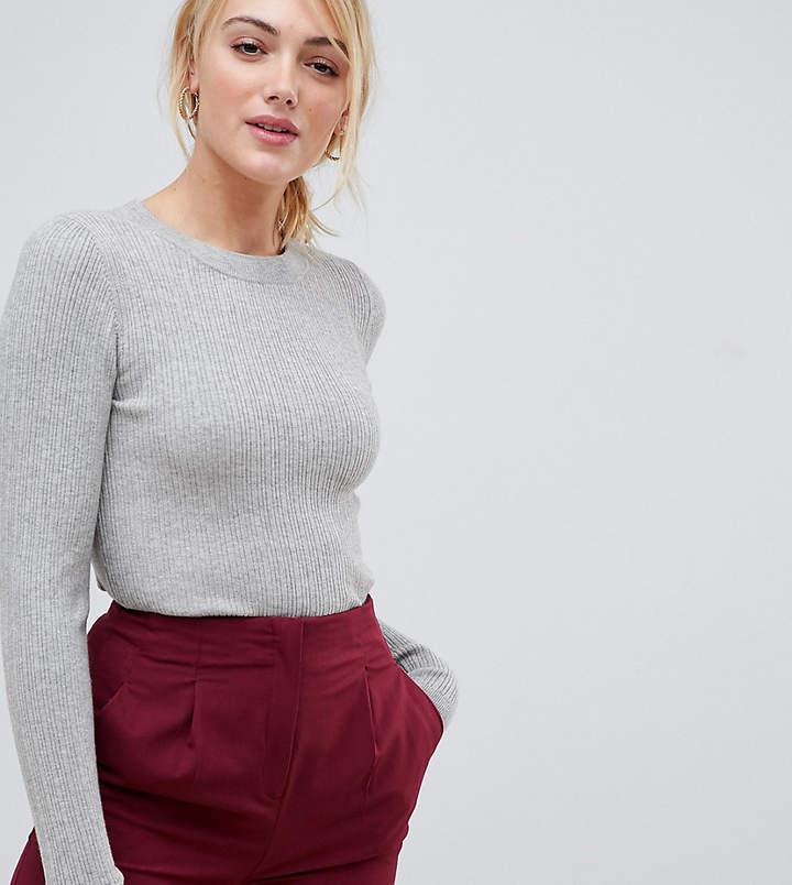 Asos Tall DESIGN Tall ribbed jumper in fine knit