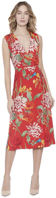 Alice + Olivia Tasia Sleeveless V-Neck Wrap Dress
