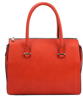Burnt Orange Barrel Satchel & Pouch Set