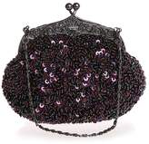 Snowskite Women's Fully Sequined Mesh Beaded Antique Style Wedding Evening Formal Cocktail Clutch Purse