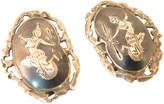 One Kings Lane Vintage Siam Sterling Niello Goddess Earrings