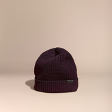 Burberry Waffle Knit Wool Cashmere Beanie