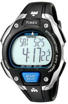 Timex IRONMAN® Road Trainer Heart Rate Monitor Black/Silver-Tone/Blue Resin Strap Watch