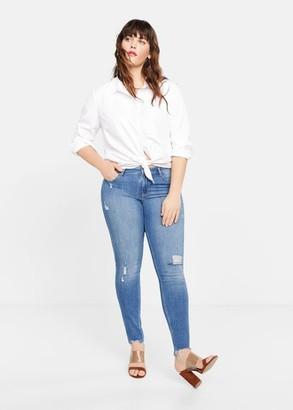 MANGO Violeta BY Super slim-fit Andrea jeans medium blue - 10 - Plus sizes
