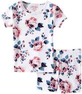 Joe Fresh Toddler Girls' Knit Sleep set, White 2 (Size 4)
