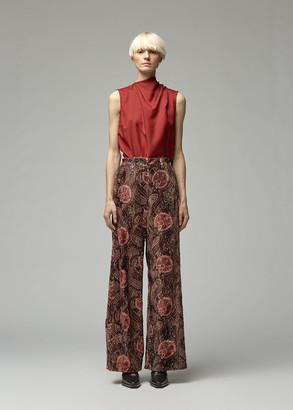 Ann Demeulemeester Women's Sleeveless Wrap Top in Bonami Burnt Orange Size 36