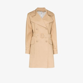 Moncler Belted Cotton Blend Trench Coat