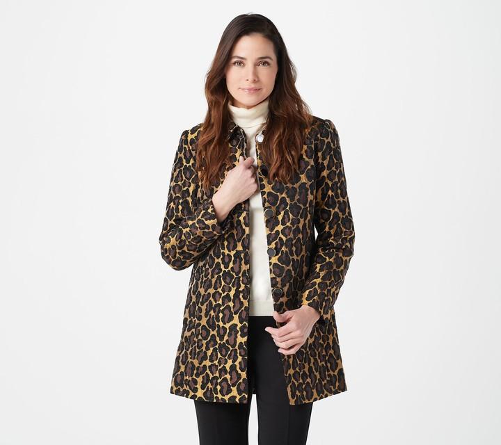 Susan Graver GRAVER Button Front Tapestry Jacket