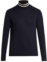 Paul Smith Roll-neck Wool And Silk-blend Sweater