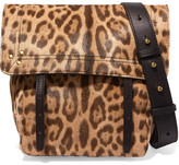 Jerome Dreyfuss Jeremie Small Leopard-print Calf Hair And Leather Shoulder Bag - Leopard print