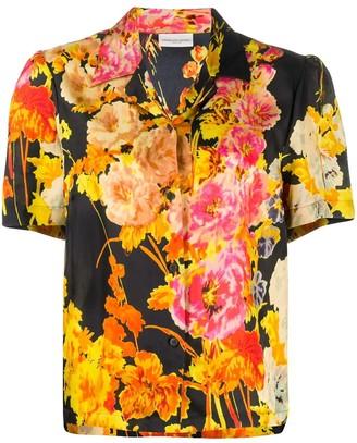 Dries Van Noten Multicolored Floral Button Down Shirt