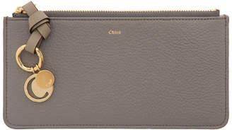 Chloé Grey Alphabet Flat Wallet