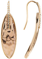 Judith Jack Crystal & Marcasite Detail Hammered Oval Drop Earrings