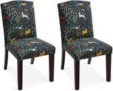 Skyline Furniture Marie Navy/Multi Side Chairs, Pair
