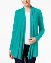 Karen Scott Cotton Open-Front Cardigan, Created for Macy's