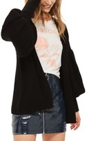 Topshop Women's Pleated Balloon Sleeve Cardigan