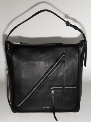 Karl Lagerfeld Paris Leather Hobo Bag