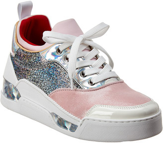 Christian Louboutin Aurelien Donna Glitter Leather Sneaker