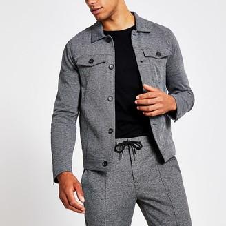 River Island Grey western skinny fit jacket