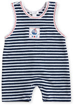Kissy Kissy Seven Seas Striped Terry Overalls, Blue, Size 3-24 Months