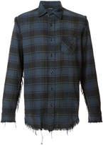 R 13 distressed plaid shirt