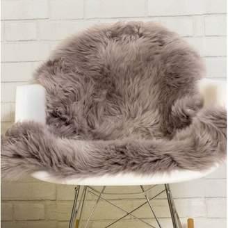 Everly Quinn Pliner Soft Handmade Shag Sheepskin Rose Quartz Area Rug Quinn