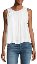 J Brand Isla Sleeveless Pleated Top