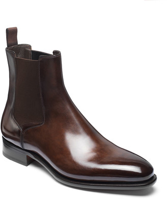 Santoni Men's Lock Leather Chelsea Boots