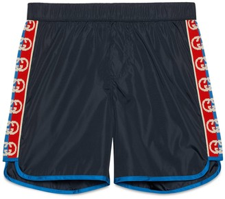 Gucci Children's swim shorts with Interlocking G