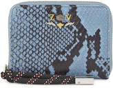 Zadig & Voltaire Compagnon snake-embossed wallet