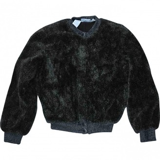 Gianfranco Ferre Brown Faux fur Jacket for Women Vintage