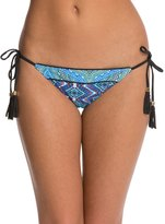 Red Carter Moroccan Tile Tassle Triangle Bikini Bottom 8124182