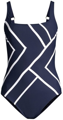 Gottex Swim Mirage Geometric-Print One-Piece Swimsuit