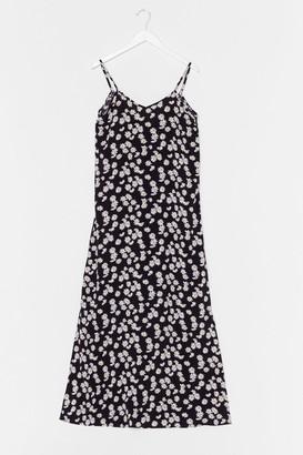 Nasty Gal Womens I Love You Daisy V-Neck Midi Dress - Black