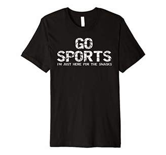 Funny Game Day Gear Go Sports I'm Just Here for the Snacks Premium T-Shirt