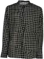 Haider Ackermann Grid Print Collarless Shirt