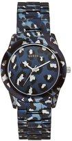 GUESS Blue-Tone Safari-Inspired Sport Watch