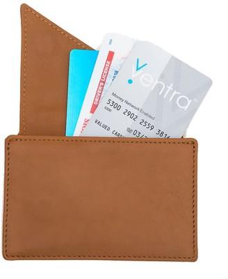 Insider Leather Card Holder Wallet In Caramel