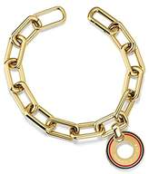 Tommy Hilfiger Women's Gold-Plated Stainless-Steel Chain Bracelet with Circle Charm