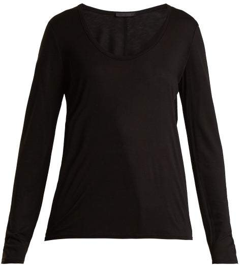 The Row Baxerton Long Sleeved T Shirt - Womens - Black