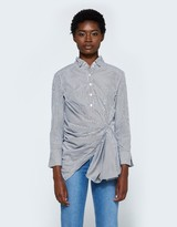Gathered Button Down Shirt