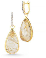 Delatori 24ct Golden Rutile and White Topaz Earrings