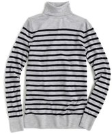 J.Crew Women's Stripe Featherweight Cashmere Turtleneck