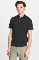John Varvatos Men's Collection 'Hampton' Silk & Cotton Polo