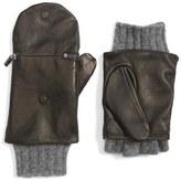 Echo Touch Glitten Knit & Leather Gloves