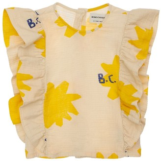 Bobo Choses Printed Organic Cotton Shirt W/ Ruffles